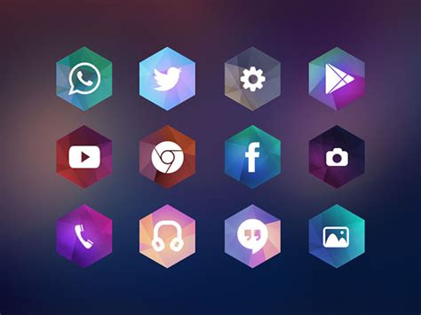 icon themes for android hexagon android icon theme free psd dlpsd