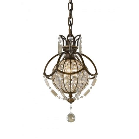 Mini Globe Chandelier Small Globe Chandelier Oxidised Bronze With Antique