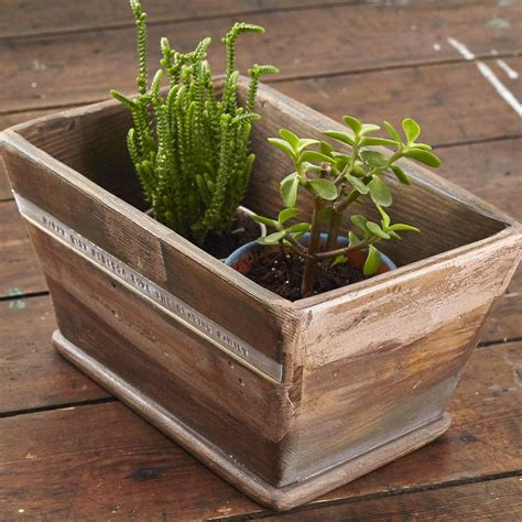 White Wooden Planter by Personalised Wooden Planter By Warner S End