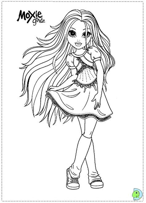 Moxie Girlz Coloring Pages Moxie Girlz Coloring Page Dinokids Org