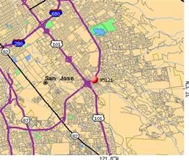 San Jose Zip Code Map by 95121 Zip Code San Jose California Profile Homes