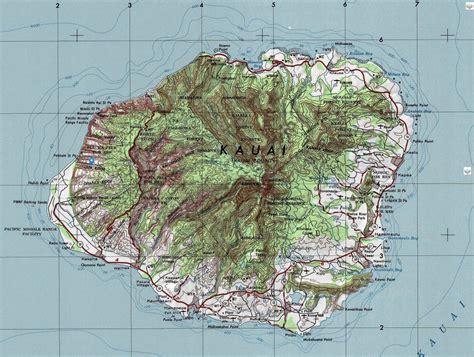 topographic map of kauai topographic maps kauai surf report