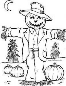 scarecrows scarecrows fall coloring pages