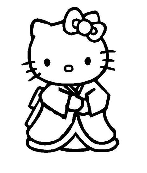 hello kitty new year coloring pages 6 best images of printable hello kitty kimono hello