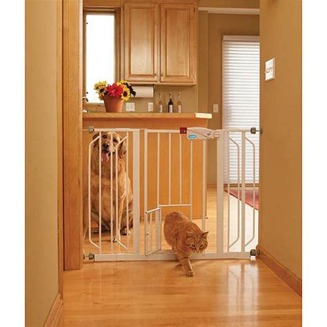 Gate With Pet Door by Carlson Wide Walk Thru Gate With Pet Door 0930pw
