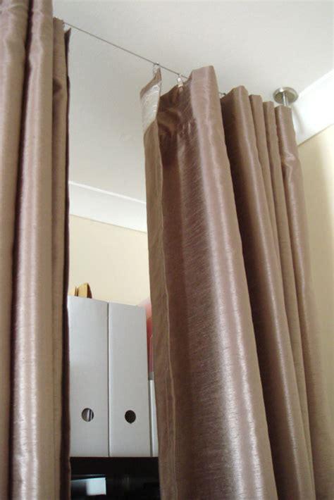 ikea room divider curtains cheryl s cozy room divider ikea hackers ikea hackers