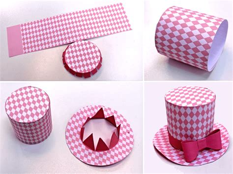 How To Make A Paper Top Hat - mini top hat 5 diy printable easy to make