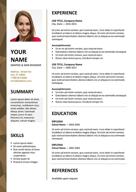Free Resume Layout by Dalston Newsletter Resume Template