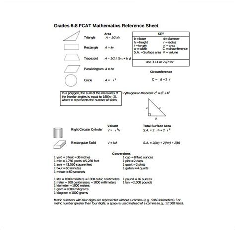 reference sheet template template business
