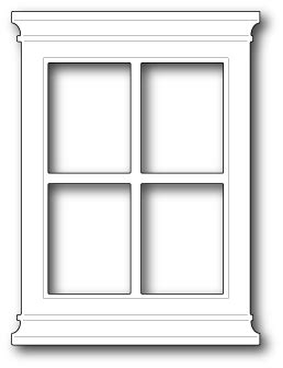 chagne glass card template grand window