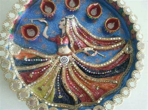 Pin by Parul Patel on Pooja thali   Thali decoration ideas