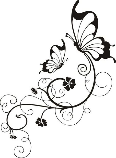 Tatto Vorlagen Muster 25 Trendige Schmetterling Vorlage Ideen Auf Bunte T 228 Towierungen Bunte