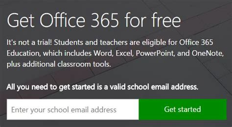 office 365 free for students and teachers