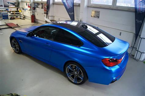 chrom matt blau chrom matt folierung bmw m4 f82 tuning 6