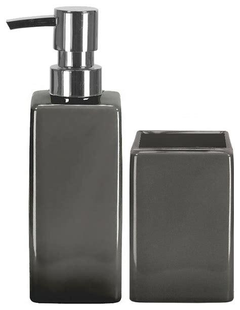 grey bathroom accessories set luxury porcelain bathroom accessories set 2 pieces grey
