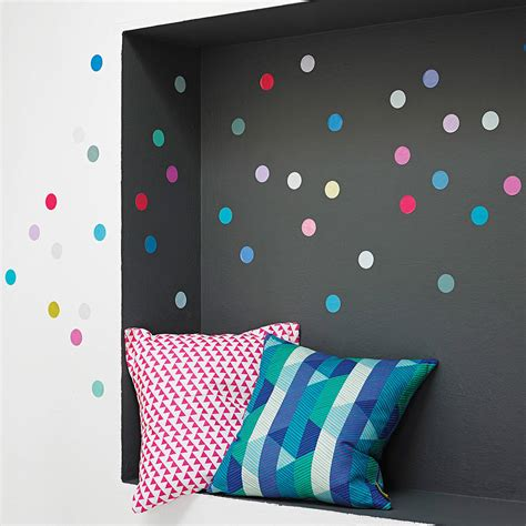 dots wall stickers multicoloured polka dot wall sticker set by oakdene designs notonthehighstreet