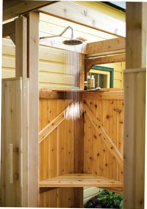 Wooden Shower Doors Free Outdoor Shower Wood Plans
