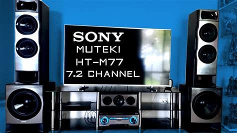 sony muteki ht m77 7 2 channel sound test