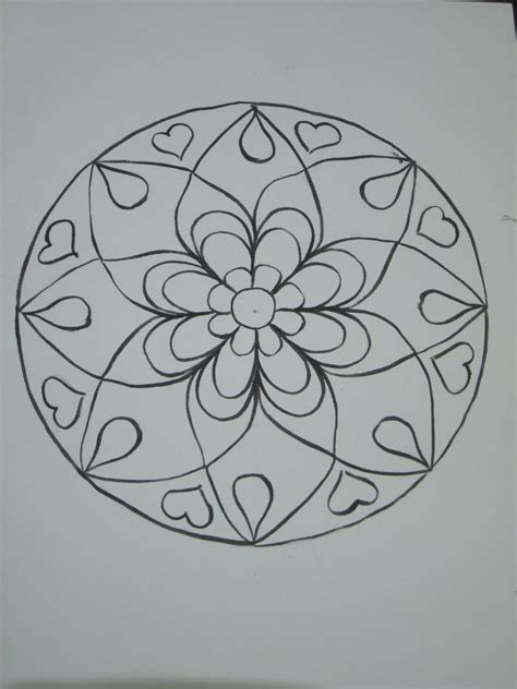 pattern mandala drawing drawing mandalas my way the heartsongs blog