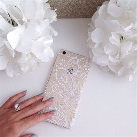 Agen Supplier Murah Iphone 5 5s Flower Princess acefast inc plastic cover for for apple iphone6 4 7 quot iphone6 5 5 quot henna white floral