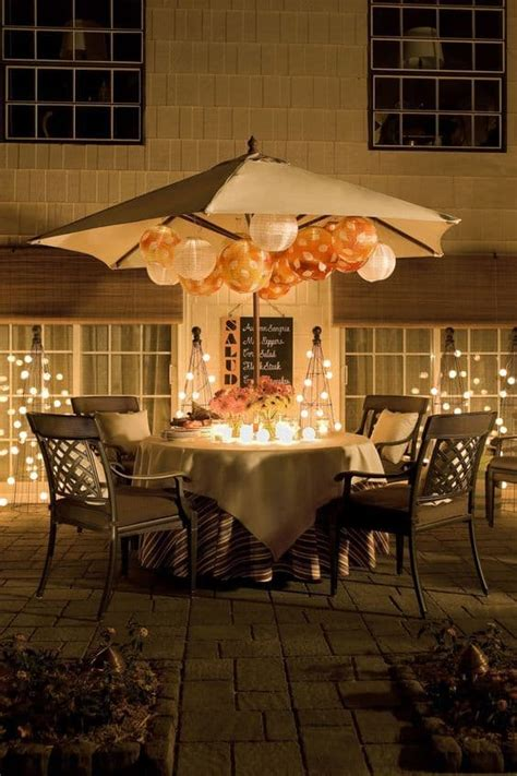 how to light up a backyard party creative outdoor lighting using christmas lights