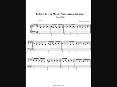 tutorial piano talking to the moon talking to the moon bruno mars piano accompaniment by