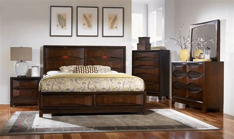 Lighted Headboard Bedroom Set by Legacy Classic Lighted Panel Bed With Storage