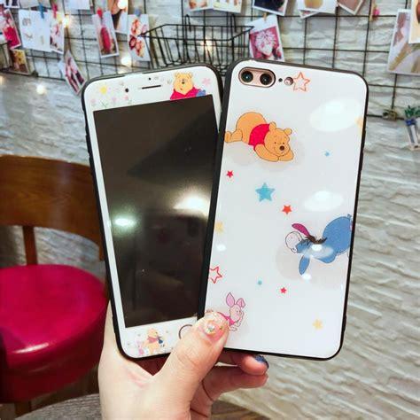 winnie pooh piglet pattern tempered glass  iphone
