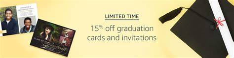 Amazon Graduation Gift Card - extra 15 off promo code grad15 on graduation cards invitations by amazon