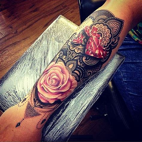 sacred rose tattoo 25 trending lace tattoos ideas on black