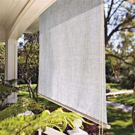 Outdoor Fabric Shades Coolaroo Outdoor Roller Shade Apartment Therapy