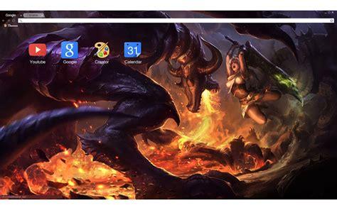 themes google chrome league of legends league of legends shyvana vs riven 1920x1080 chrome web
