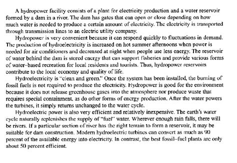 Audio Essay Writing by Hydroelectricity Integrated Essay Testbig