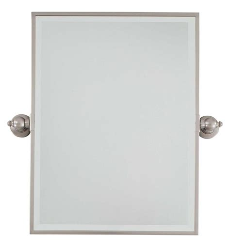 Minka Lavery Brushed Nickel Standard Rectangle Pivoting Pivoting Bathroom Mirror