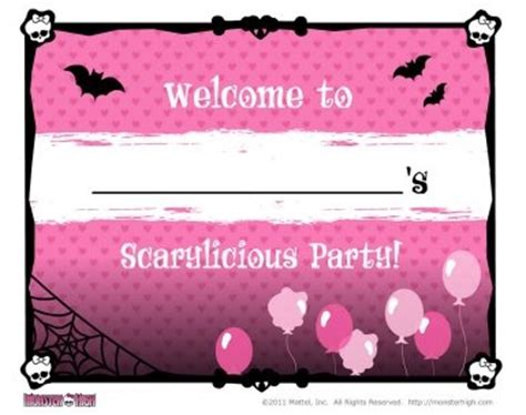 monster high printable name tags 22 best images about