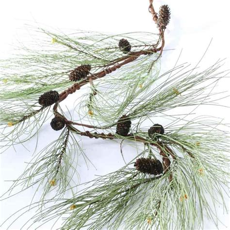 artificial long needle pine and natural pine cone garland