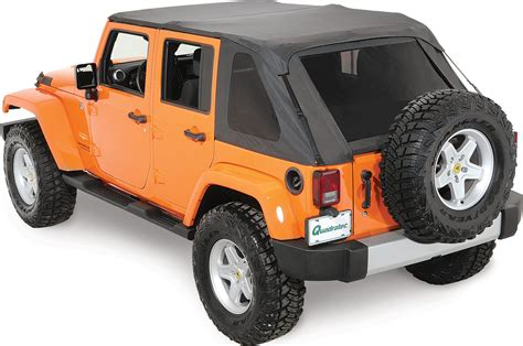 jeep soft top 4 door rage products 106035 complete trail top frameless soft