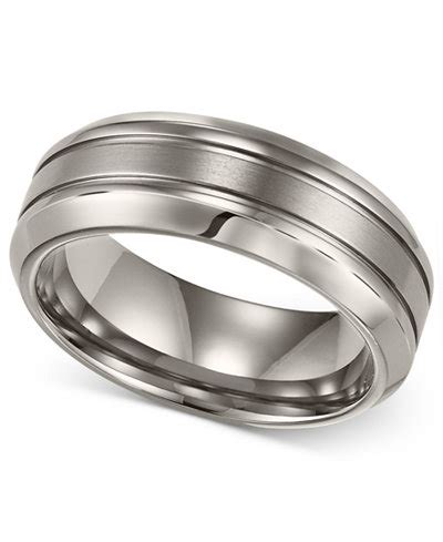 comfort fit titanium wedding bands men s titanium ring comfort fit wedding band rings