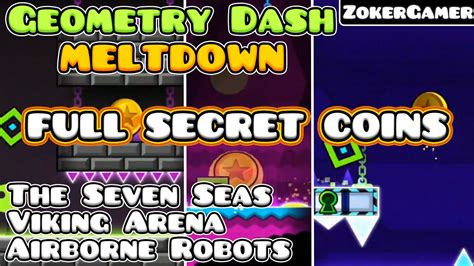 geometry dash meltdown full version youtube geometry dash meltdown full secret coin s zokergamer