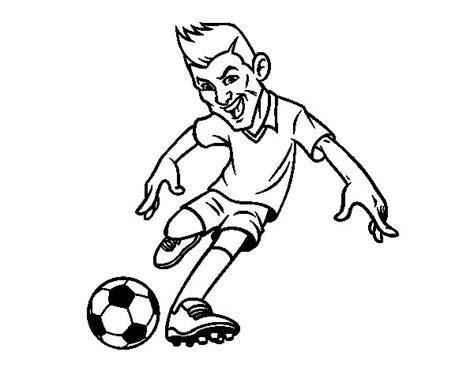 imagenes para pintar futbol dibujo de delantero de futbol para colorear dibujos net