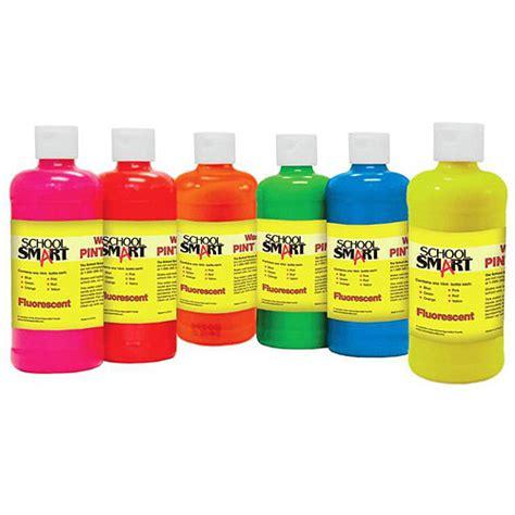 school smart tempera paint 1 pint fluorescent colors set of 6 walmart