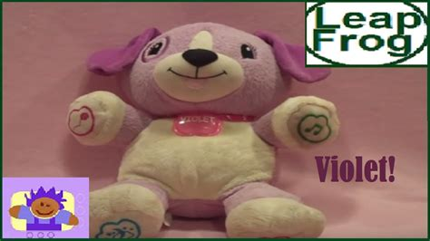 leapfrog puppy leapfrog my puppy pal talking and singing violet the puppy plush