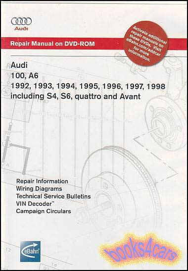 audi a6 repair manualugg stovle audi a6 shop manual service repair book 100 s4 s6 quattro workshop bentley dvd ebay