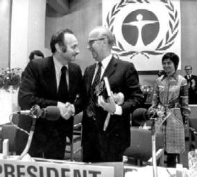 president ingemund bengtsson and secretary general maurice