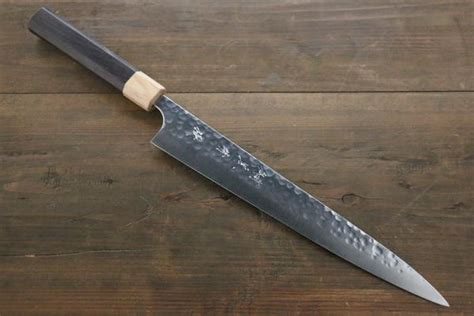 premium kitchen knife of sg2 powder steel made in japan by yu kurosaki r2 sg2 steel hammered japanese chef s gyuto