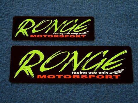 Motorsport Aufkleber Shop by Aufkleber Quot Ronge Motorsport Quot Ronge Motorsport