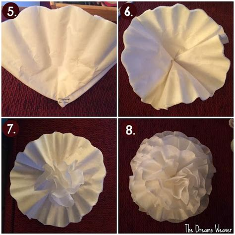 How To Make Paper Flowers Out Of Coffee Filters - 25 best ideas about coffee filter crafts on