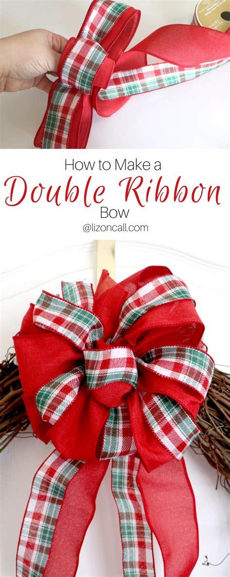 double ribbon bow   wreath liz  call