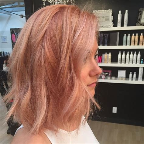 rose gold hair dye 8 rose gold hairstyles to try this spring brit co