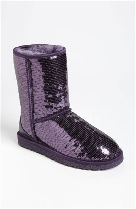 ugg sparkle boots ugg classic sparkle boot in purple purple velvet